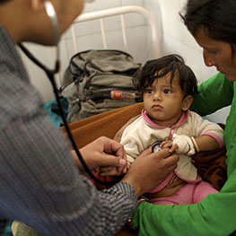 Doctor with child patient