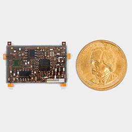 electronics compared to dollar coin