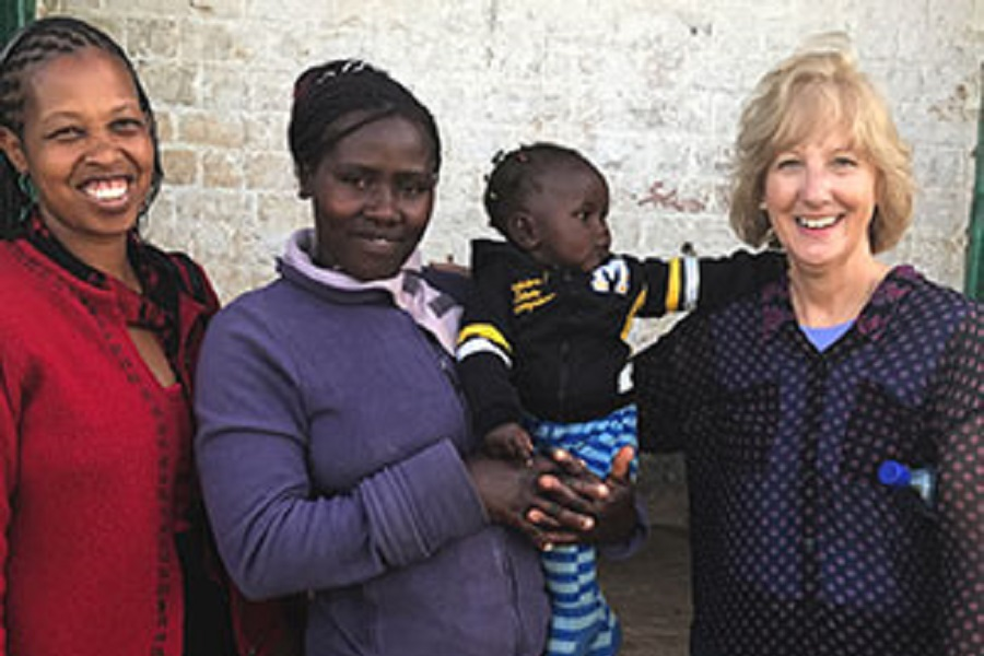 U.S. researchers involved in Indiana University's Clinical and Translational Science Awards (CTSA) Program have gained insights into health challenges from colleagues working overseas, such as Dr. Debra Litzelman (right), who manages a Fogarty grant in Kenya. (Photo courtesy of Dr. Debra Litzelman)