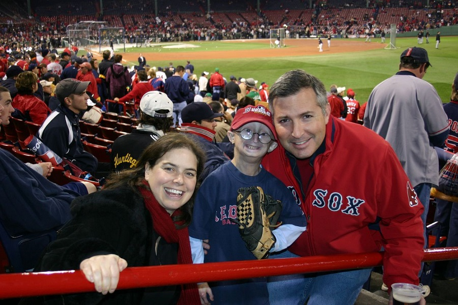 Dr. Leslie Gordon and Dr. Scott Berns with their son, Sam, in a 2007 photo. Sam died in 2014 at age 17. Credit: Leslie Gordon