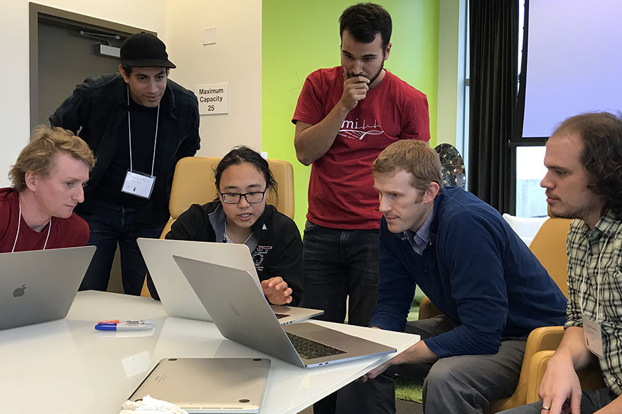 Scientists collaborate at the January 2018 NCATS Data Hackathon