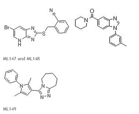 Structure of ML147, ML148, and ML149