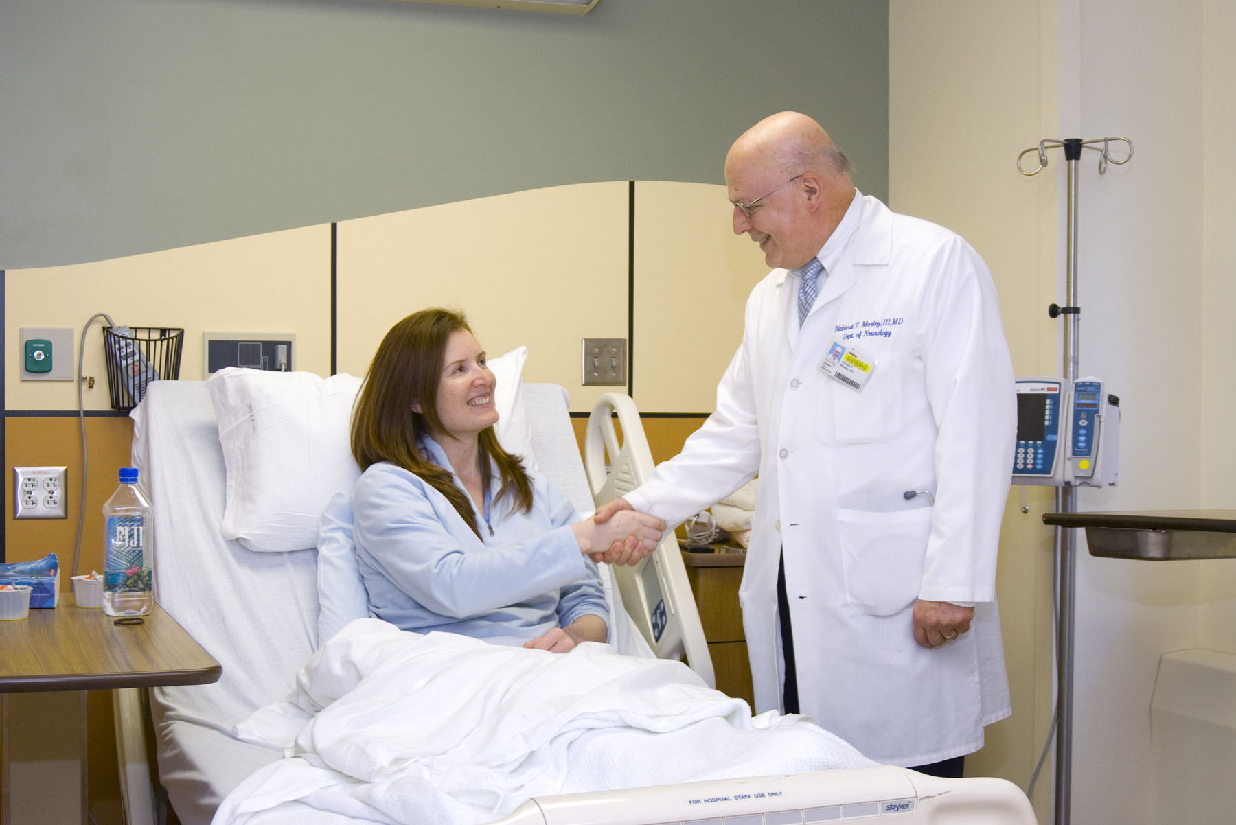 a providers meets with a patient