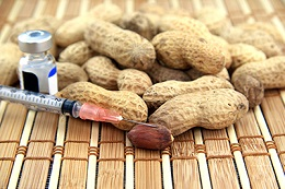 Peanuts and a syringe