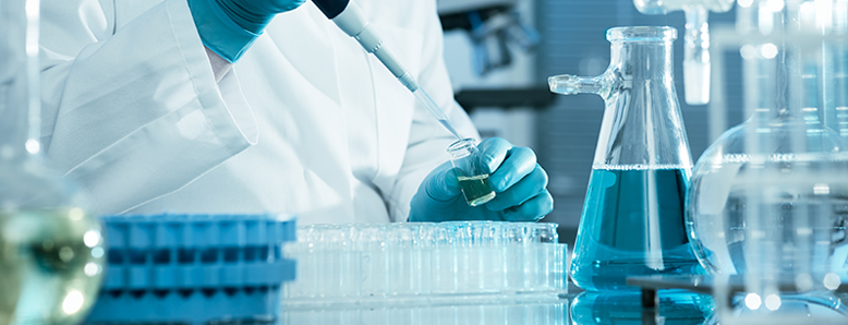 A researcher working in a laboratory.