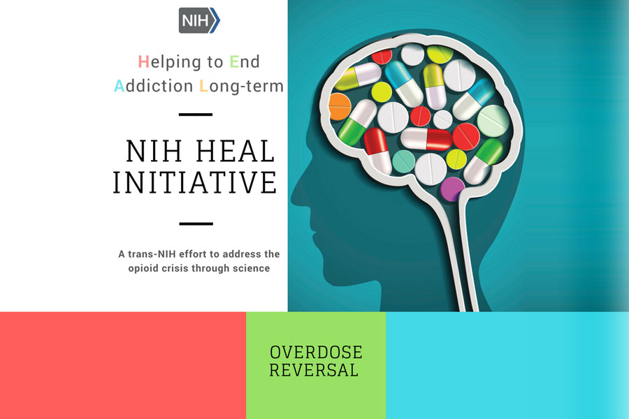 NIH Heal Initiative. Pain management, overdose reversal, opioid addiction treatment.