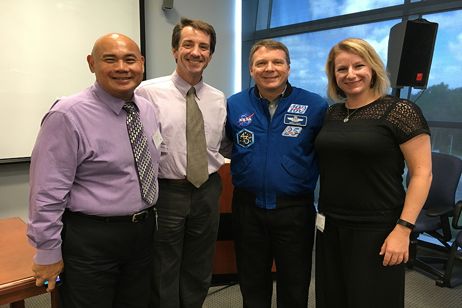 Drs. Tagle, Austin, Low with NASA astronaut.