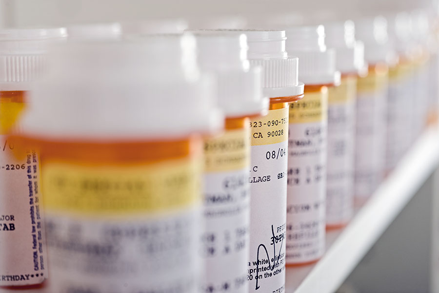 image of prescription drug bottles