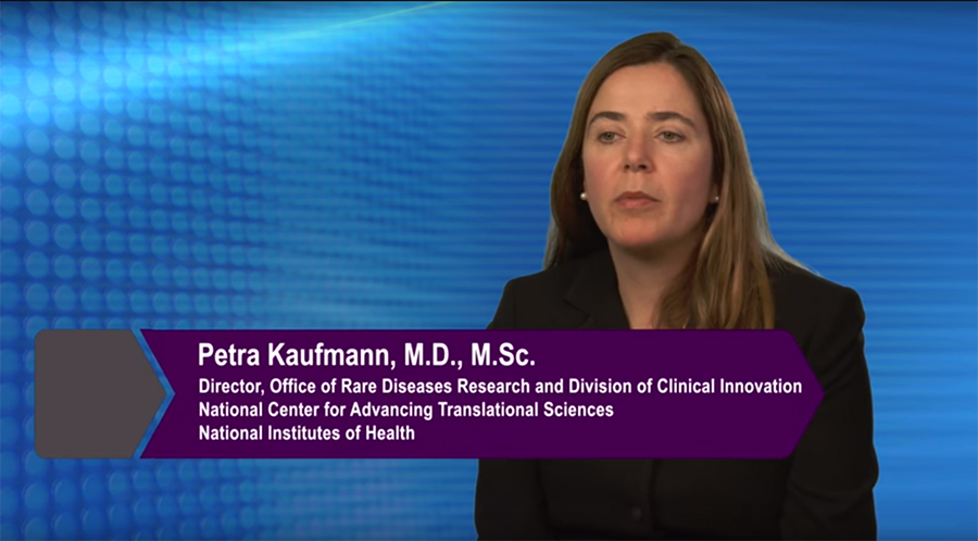 NCATS Rare Diseases Research video with Petra Kaufmann, M.D., M.Sc., director, NCATS' Office of Rare Diseases Research and Division of Clinical Innovation