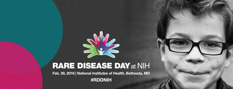 Image of Bruce Rubin next to the Rare Disease Day at NIH logo, February 29, 2016, National Institutes of Health, Bethesda, Maryland #RDDNIH