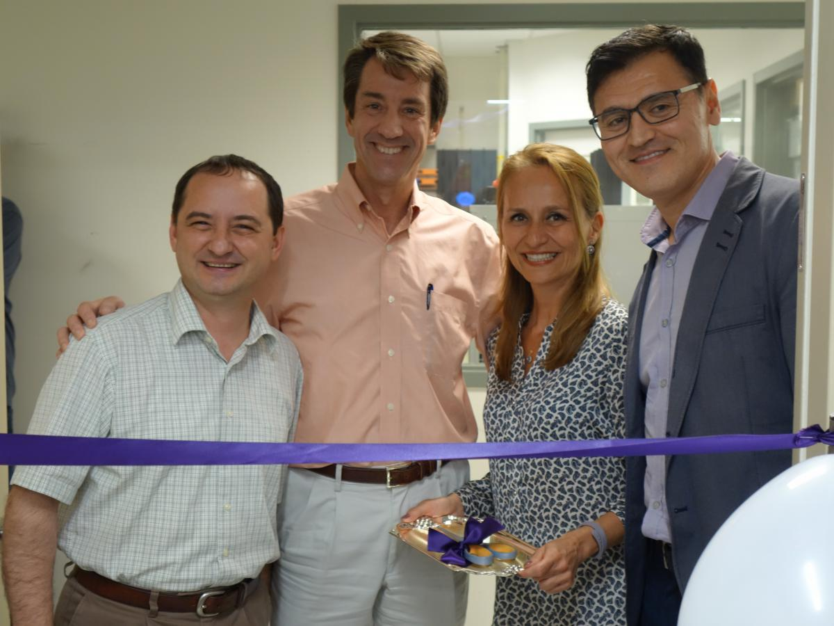 Anton Simeonov, Ph.D., Christopher Austin, M.D., Pinar Ormanoglu, M.S., and Ilyas Singeç, M.D., Ph.D., at the ribbon-cutting ceremony for the NCATS Stem Cell Translation Laboratory