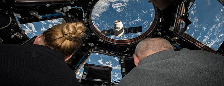 Astronauts at the International Space Station