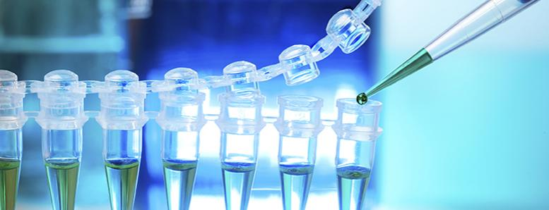 Image of dropping liquid into vials
