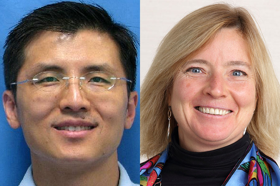NCATS staff members, Olga Brazhnik, Ph.D., and Timothy Hsiao, Ph.D.