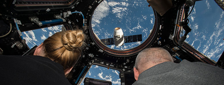 Astronauts aboard the International Space Station