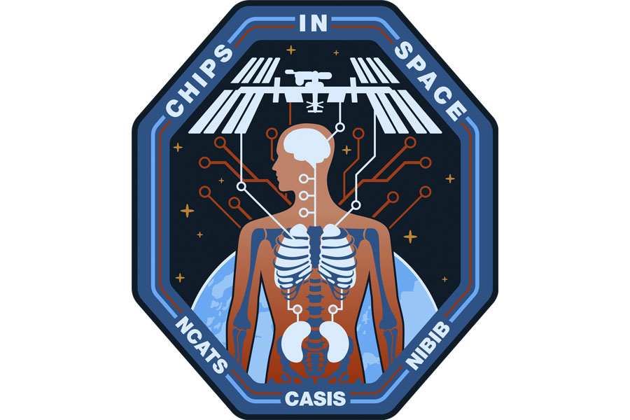 The insignia representing the collaboration between CASIS and NIH (NCATS and NIBIB) for the Tissue Chips in Space investigations to the International Space Station National Laboratory. (CASIS Photo)