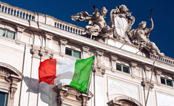 Building with Italian flag