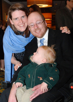 Taylor Hines and his family (Advancement of Research for Myopathies Photo)