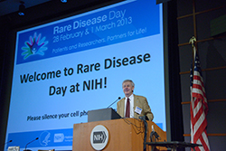 Steve Groft at Rare Disease Day 2013.