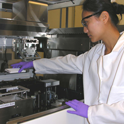 Technician working in a laboratory.