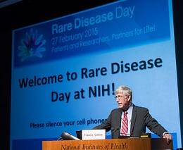 NIH Director Francis S. Collins, M.D., Ph.D., at Rare Disease Day at NIH 2015.