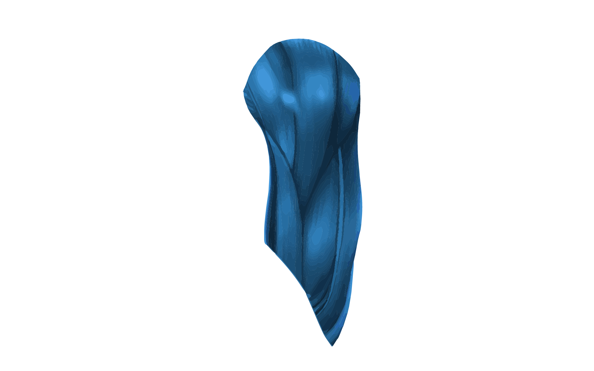 A 3D graphic image of the human muscle.